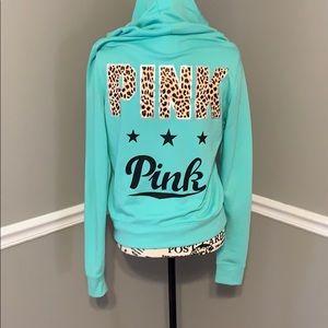 Vs pink zip hoodie